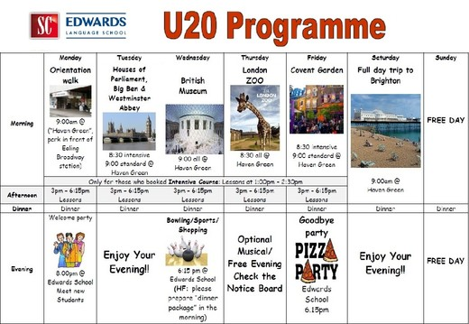 Leisure Programme for Junior Course